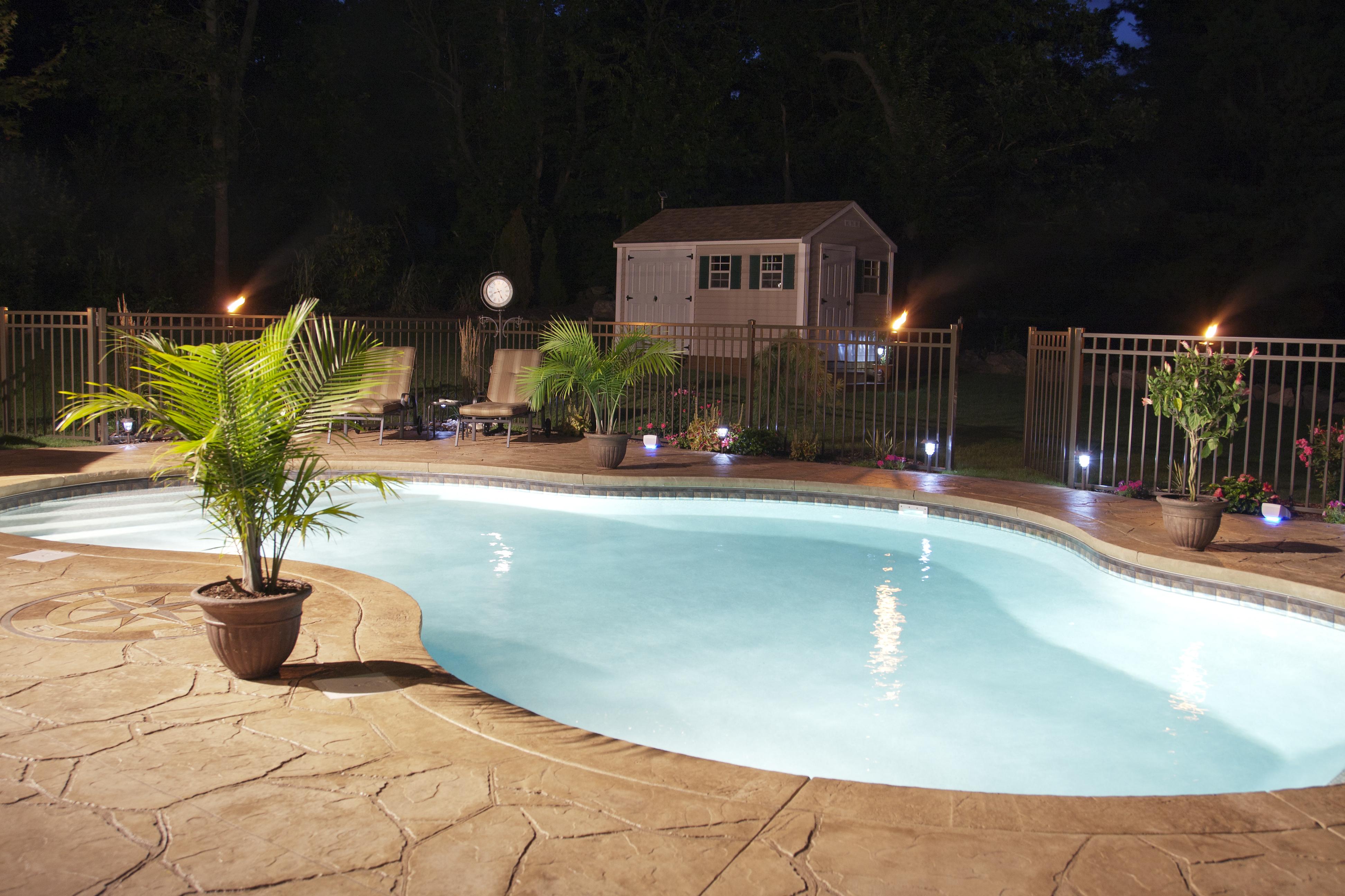 lumière piscine