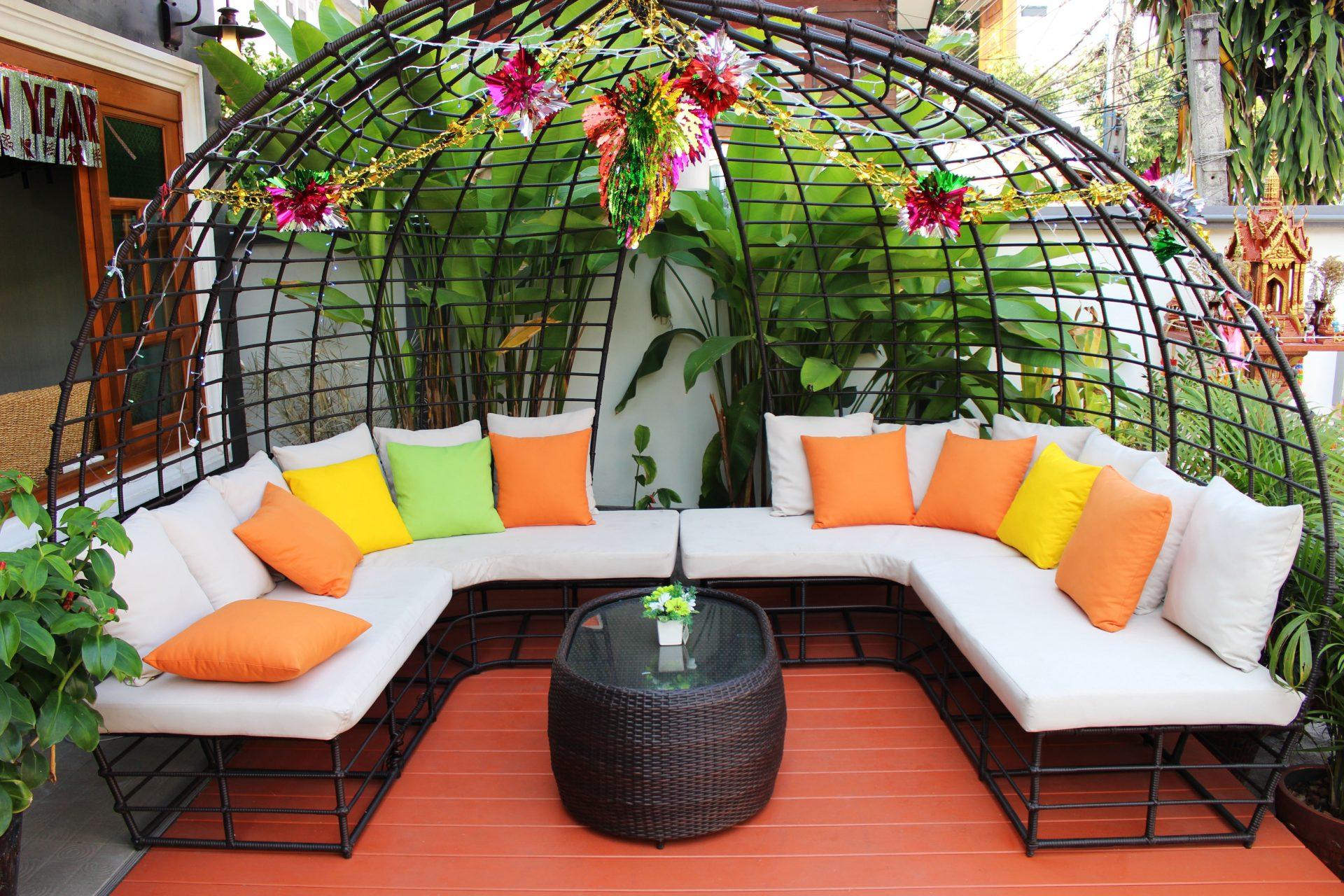 mobilier jardin acier