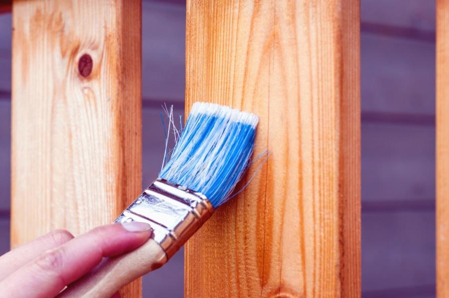 peinture bois cloture
